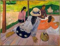 The Siesta, Paul Gauguin, oil on canvas