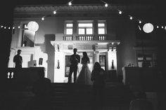 Merritt Mansion, Pasadena   Tracy Dodson Photography #wedding #reception #speech #stringlighting #bistrolighting #lantern #canopy #eventlighting #weddinglighting