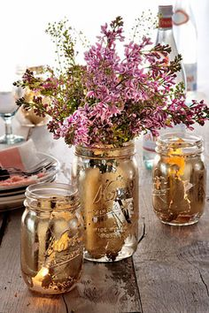 Gilded Vases