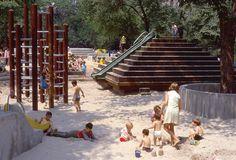"W. 67th St. ""adventure playground,"" 1966, designed by architect Richard Dattner."