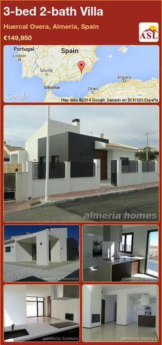 3-bed 2-bath Villa in Huercal Overa, Almeria, Spain ►€149,950 #PropertyForSaleInSpain
