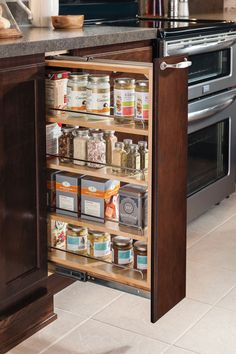 "Our 6"" Base Pullout Cabinet makes excellent use of narrow, deep spaces and keeps your supplies right where you need them."