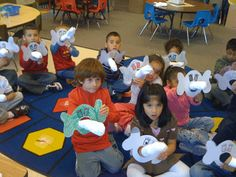 A whole kindergarten Dr. Seuss unit -- I love the Horton puppets!