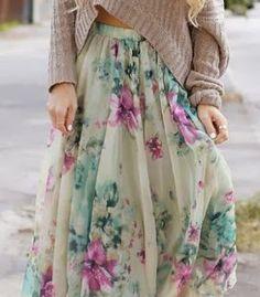 BOHO Women Floral Summer Skirt