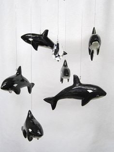 Orca Whale Mobile Hanging