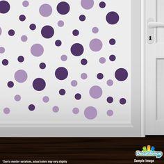 Purple / Lilac Polka Dot Circles Wall Decals