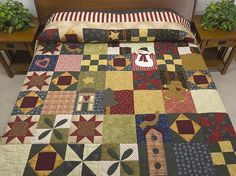 Christmas Sampler Quilt -- marvelous made with care Amish Quilts from Lancaster (hs5998)