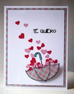 Homemade Birthday Cards, Diy Birthday, Homemade Cards, Pop Up Cards, Love Cards, Diy Cards, Valentine Crafts, Valentine Day Cards, Diy Paper