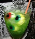 Ectoplasm n' Eyeballs Halloween Cocktail - Holidays