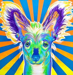 Chinese Crested - Doodles Painting