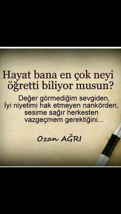 Ahmet krtl. .yanlış olanı SİL GİTSİN Information Board, Say Word, Famous Words, Tumblr Quotes, Sufi, Meaningful Words, Cool Words, Sentences, Karma