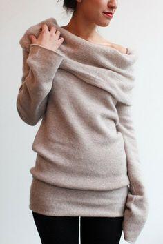 Claudia cashmere cowl neck sweater | Cashmere sweater dress, Cowl ...