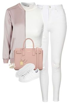 """""""Untitled #1169"""" by lovetaytay ❤ liked on Polyvore featuring Topshop, Jane Norman, Yves Saint Laurent, adidas Originals, Carelle and Rolex"""