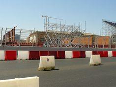 #andamios para el Gran Premio de Europa de Fórmula 1, Valencia. Paddock y Boxes