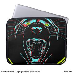 Shop Black Panther - Laptop Sleeve created by Ornaart. Neoprene Laptop Sleeve, Laptop Sleeves, Computer Sleeve, Custom Laptop, Day Use, Black Panther, Graphic Design, Bags, Marvel