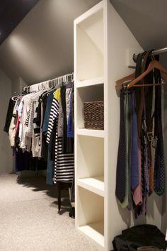 64 New Ideas Attic Closet Ideas Angled Ceilings Slanted Walls Closet Redo, Attic Closet, Closet Bedroom, Closet Space, Walk In Closet, Closet Ideas, Attic Wardrobe, Garage Attic, Master Bedroom