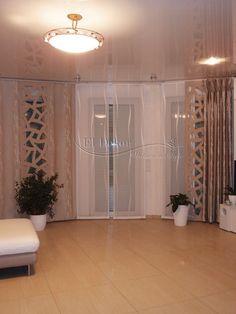 Langer wohnzimmer schiebevorhang in braun http www - Raumtextilienshop 24 ...