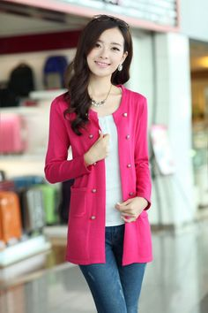Cotton, Buttoned, Jacket, Pocketed, YRB2001, YRB Fashion, YRB Jacket, Main Style, Free Shipping, online Clothing, Womens