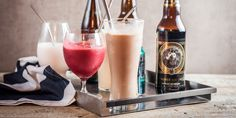 4 Delicious Beer Milkshakes You Can Make Right Now Cooking With Beer, Beer Recipes, Non Alcoholic Drinks, Milkshakes, Brewery, Sweet Tooth, Ice Cream, Canning, How To Make
