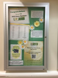 Daisy award for nursing. Our unit bulletin board explains the  program and highlights our nominees and honorees.