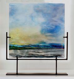 Break of Dawn, Alice Benvie Gebhart, Kilnformed fused glass.