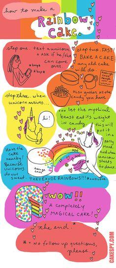How to Make a RainbowCake