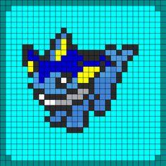 Vaporeon Pokemon Coaster Set1 bead pattern