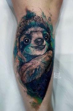 Russell Van Schaick Findyoursmile sloth tattoo