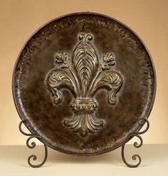 Fleur De Lis Decorative Plates