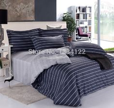 Find More Bedding Sets Information about Good price delicate blue and white stripes bedding set for sale,High Quality Bedding Sets from Amymoremore mall on Aliexpress.com