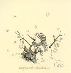 winter by Maricarmen Pizano (Kind of cute...), via Flickr