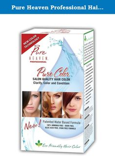 Pure Heaven Professional Hair Color (Dark Brown). Salon quality formula. Water based color. 100% ammonia free. Odor free.