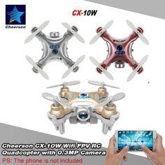 Cheerson CX-10W CX10W Mini Wifi FPV Camera 2.4G 4CH 6 Axis LED RC Quadcopter New