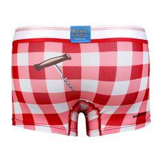 Men's Boxer Pants-Gingham Check, backprint メンズファッション アンダーウェア ボクサーパンツ #darkshiny #mensfashion #boxerbrief