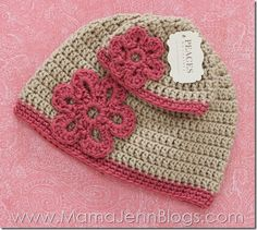 Peaces By Cortney: Matching Handmade Crochet Hat for Girl & Doll
