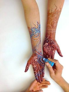 henna tattos, like this as a tattoo idea...maybe start on the upper arm into a quarter sleeve