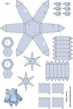 Easy Pokemon Papercraft | Regice(colored) - /po/ Archives