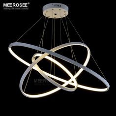 Modern LED Simple Chandelier Lights Lamp For Living Room Cristal Lustre Hanging Lights Suspension Drop Ceiling Fixtures Bedroom Light Fixtures, Ceiling Fixtures, Ceiling Lights, Circle Chandelier, Foyer Pendant Lighting, Lighting Universe, Cheap Lamps, Circle Light, Led Lampe