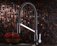 Spring Neck Pull Out Spray Kitchen Sink Mixer Tap Minimalist Chrome New MAYFAIR