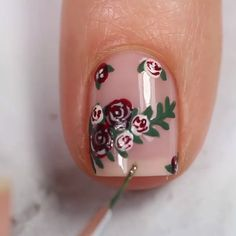 Girls, if you wanna see more nail-art ideas that you can easily apply at home then just visit our website there are more tutorials! Nail Art Hacks, Easy Nail Art, Cool Nail Art, French Nails, Nails Only, Nail Art Videos, Cute Nail Designs, Flower Nails, Nail Tutorials