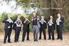 32 Clever, Funny Pictures To Take With Your Wedding Party - WeddingWire.com Inner hero!!