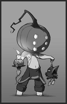 Halloween character concept