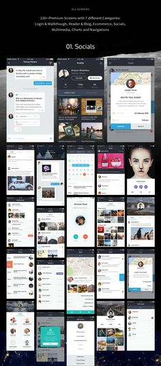 Premium pack of 120+ elaborate iOS screens in seven categories that can help you to create your own app design or prototype. Each screen is fully customizable and exceptionally easy to use.