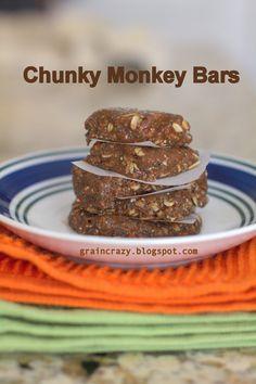 Grain Crazy: Chunky Monkey Bars (Raw) Great Summer snack.