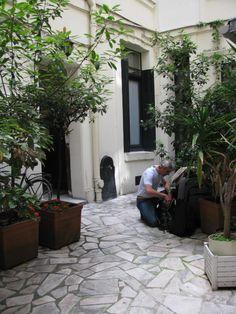 Apartment courtyard in Paris!