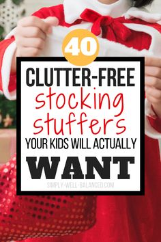 Looking for clutter-free Christmas gifts for your family? Tired of your house looking like a war zone for weeks after the holidays? Check out this list of awesome stocking stuffers your kids will love. Perfect for your minimalist Christmas. Tons of simple Stocking Stuffers For Mom, Christmas Stocking Stuffers, Stocking Ideas, Stocking Stuffers For Teenagers, Free Christmas Gifts, Christmas Fun, Holiday Gifts, Santa Gifts, Holiday Ideas