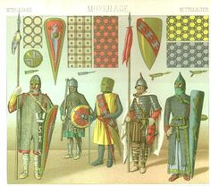 9th-13th Century European armor from Racinet