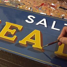 "Finito... This ""Salty Sea Dog"" sign is up    *For Sale* contact tjguzzardi@gmail.com for enquires #saltyseadog"