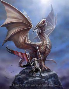Anne Stokes, Dragon Images, Dragon Pictures, Fantasy Dragon, Fantasy Art, Dark Fantasy, Breathing Fire, Besta, Mythical Dragons
