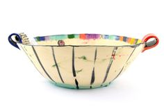 Hand Painted Bowl by Jasmina Verbic Pottery